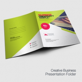 Corporate Business Presentation Folder