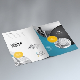 Corporate Business Presentation Folder With Cricle