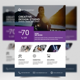 Corporate Business Purple Flyer