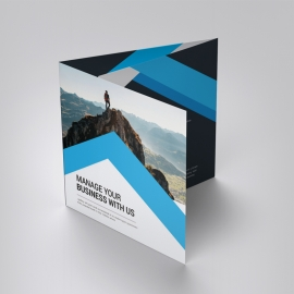 Corporate Business Square TriFold Brochure