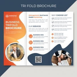 Corporate Business Tri Fold Brochure Cover Layout