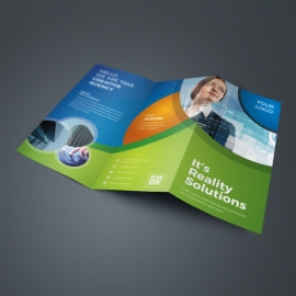 Corporate Business TriFold Brochure With Abstract