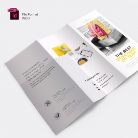 Corporate Business Trifold Brochure With Yellow Accent
