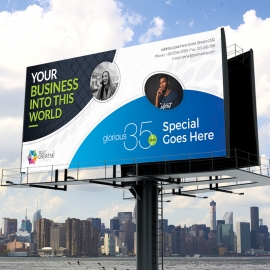 Corporate Clean Billboard Sinage