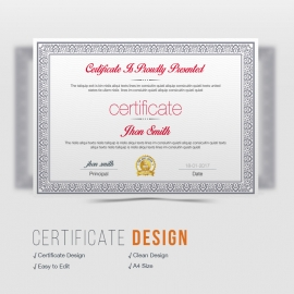 Corporate Clean Business Certificate
