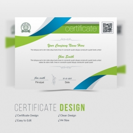Corporate Clean Business Certificate Design