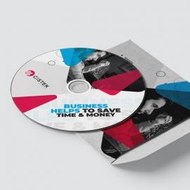 Corporate Clean CD-Sticker Template