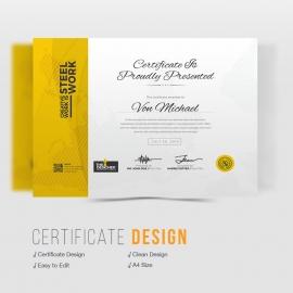 Corporate Clean Certificate Design