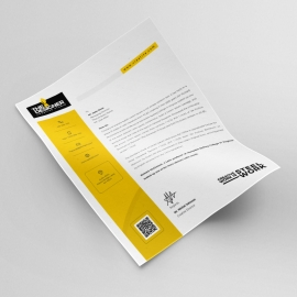 Corporate Clean Letterhead Design