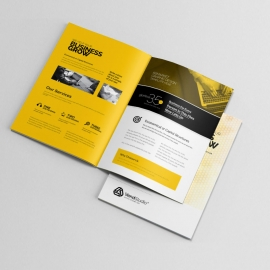 Corporate Creative Clean Bifold Brochure