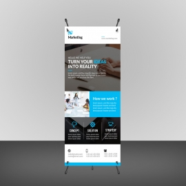 Corporate & Creative Rollup Banner