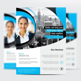 Corporate Cyan Flyer Template