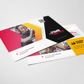 Corporate Fitness Postcard Template