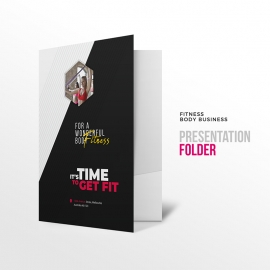 Corporate Fitness Presentation Folder