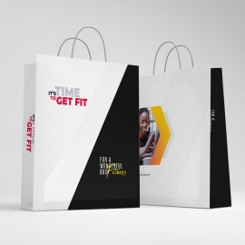 Corporate Fitness Shopping Bag Template