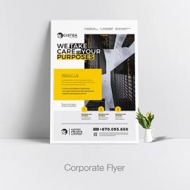 Corporate Flyer With Minimalist Design