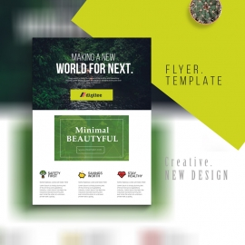 Corporate Forest Flyer With Green Accent