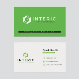 Corporate Green Business Card
