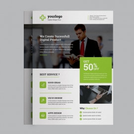 Corporate Green Business Flyer