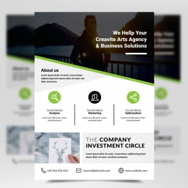 Corporate Green Flyer Template