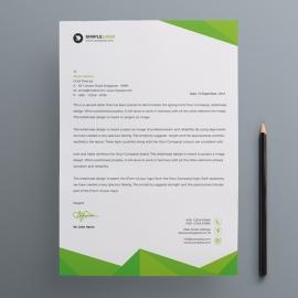 Corporate Green Letterhead