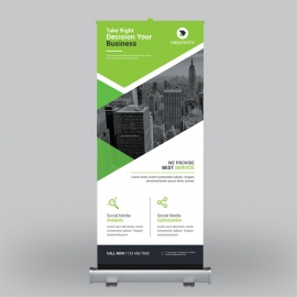 Corporate Green Roll-Up Banner