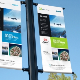 Corporate Lamp Post Banner
