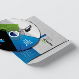 Corporate Modern CD Sleeve And Sticker Pack