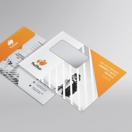 Corporate Orange B5_Envelope With Triangle