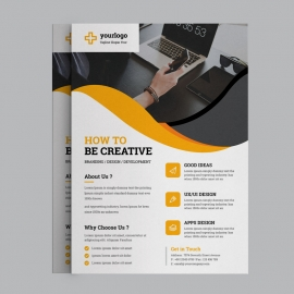 Corporate Orange Business Flyer