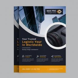 Corporate Orange Business Flyer