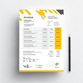 Corporate Orange Business Invoice