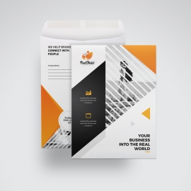 Corporate Orange C4 Envelope Catalog With Triangle