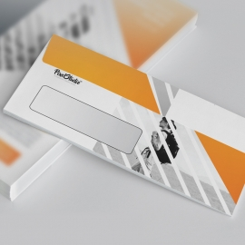 Corporate Orange DL Envelope Commercial With Triangle