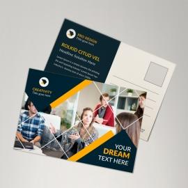 Corporate Orange Postcard