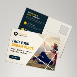 Corporate Orange Postcard Design
