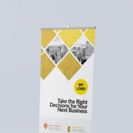 Corporate Orange Rollup Banner