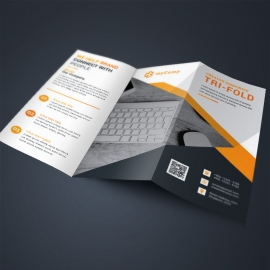 Corporate Orange TriFold Brochure