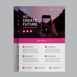 Corporate Pink Business Flyer