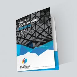 Corporate Presentation Folder With Abstract Design