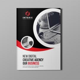 Corporate Red Bi-Fold Brochure
