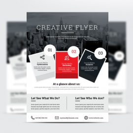 Corporate Red Flyer