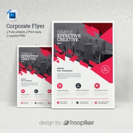 Corporate Red Flyer Template