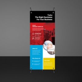 Corporate Rollup Banner Template