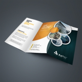 Circles Style Trifold Brochure Template