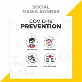 Covid 19 Prevention Social Media Banner