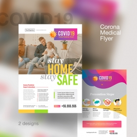COVID19 Corona Virus Treatment Medical Flyer