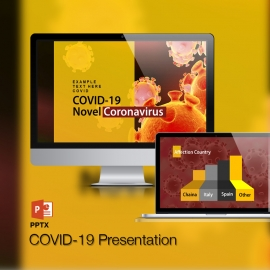 Novel Corona Virus COVID19 PowerPoint Template