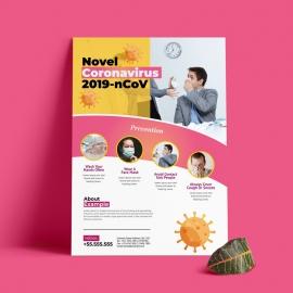 Covid19 Novel Coronavirus Flyer