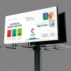 Creatipix  Billboard With Blue Concepts